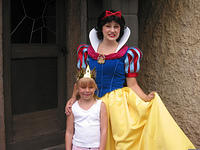 Carrie and Snow White in Fantasyland